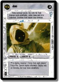 star wars ccg premiere limited jawa light