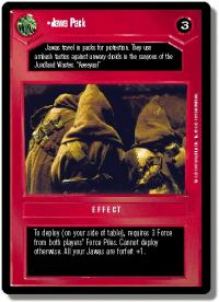 star wars ccg premiere limited jawa pack