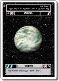 star wars ccg a new hope revised kashyyyk light wb