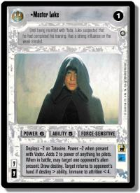star wars ccg enhanced master luke