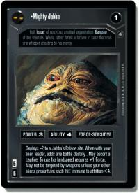 star wars ccg anthologies sealed deck premium mighty jabba