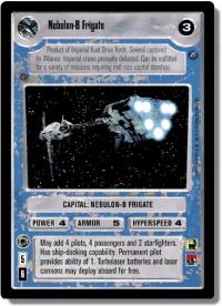 star wars ccg death star ii nebulon b frigate