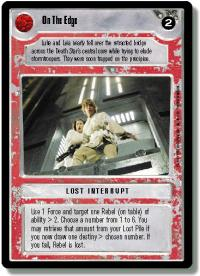 star wars ccg premiere unlimited on the edge wb