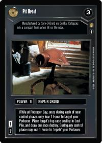 star wars ccg tatooine pit driod