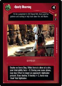 star wars ccg tatooine quietly observing