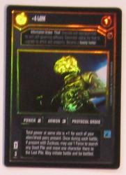 star wars ccg reflections i 4 lom foil