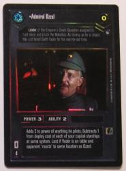 star wars ccg reflections i admiral ozzel foil