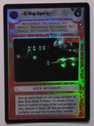 star wars ccg reflections i all wings report in foil