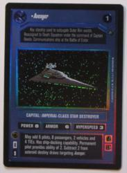 star wars ccg reflections i avenger foil