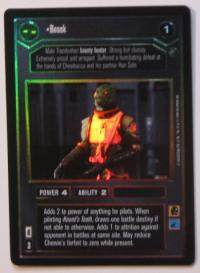 star wars ccg reflections i bossk foil