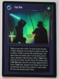 star wars ccg reflections i epic duel foil