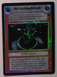 star wars ccg reflections i what is thy bidding my master foil