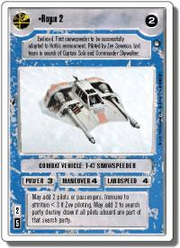 star wars ccg hoth revised wb rogue 2