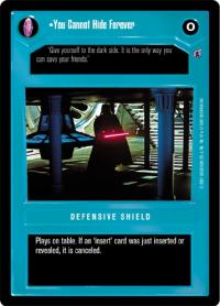 star wars ccg death star ii you cannot hide forever