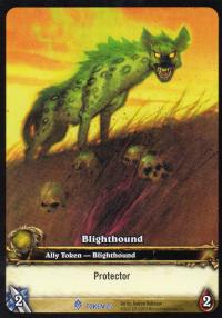 warcraft tcg tokens blighthound