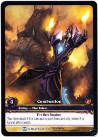 warcraft tcg extended art combustion ea