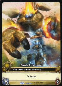 warcraft tcg tokens earth elemental protector