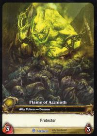 warcraft tcg tokens flame of azzinoth protector
