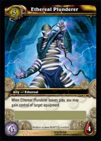 warcraft tcg loot cards ethereal plunderer loot