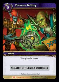 warcraft tcg loot cards fortune telling loot