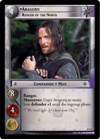 lotr tcg lotr promotional aragorn ranger of the north p