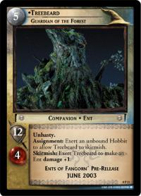 lotr tcg lotr promotional treebeard guardian of the forest p