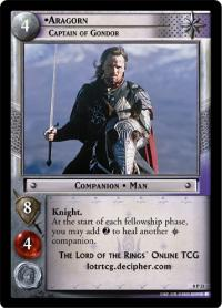 lotr tcg lotr promotional aragorn captain of gondor p