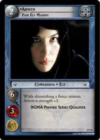 lotr tcg lotr promotional arwen fair elf maiden p