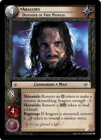 lotr tcg lotr promotional aragorn defender of free peoples p