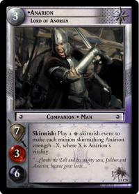 lotr tcg lotr promotional anarion lord of anorien p
