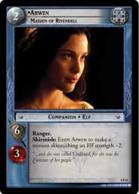 lotr tcg lotr promotional arwen maiden of rivendell p