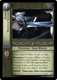 lotr tcg lotr promotional sting weapon of heritage p