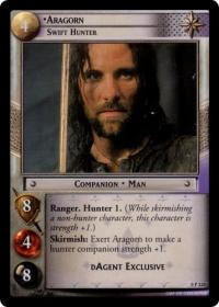 lotr tcg lotr promotional aragorn swift hunter p
