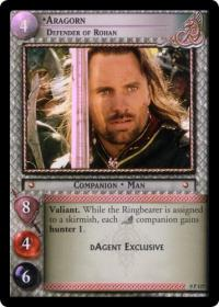 lotr tcg lotr promotional aragorn defender of rohan p