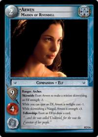 lotr tcg lotr promotional arwen maiden of rivendell d