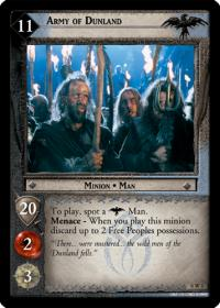 lotr tcg lotr promotional army of dunland w