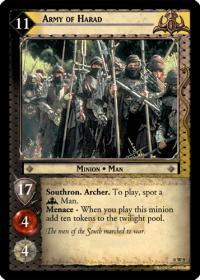 lotr tcg lotr promotional army of harad w