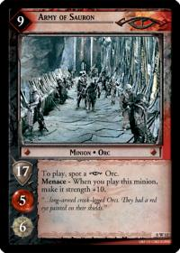 lotr tcg lotr promotional army of sauron w