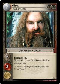 lotr tcg fellowship of the ring gimli son of gloin