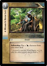 lotr tcg fellowship of the ring foils a wizard is never late foil