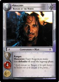 lotr tcg fellowship of the ring aragorn ranger of the north