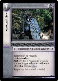 lotr tcg fellowship of the ring aragorn s bow