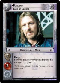 lotr tcg fellowship of the ring boromir lord of gondor