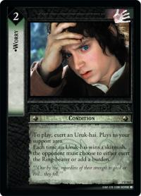 lotr tcg fellowship of the ring foils worry foil