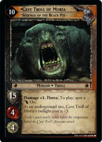 lotr tcg fellowship of the ring cave troll of moria scourge of the black pit
