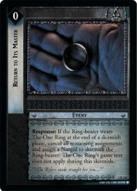 lotr tcg fellowship of the ring return to its master