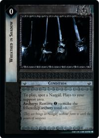 lotr tcg fellowship of the ring foils wreathed in shadow foil