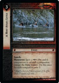 lotr tcg fellowship of the ring foils a host avails little foil