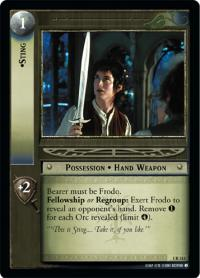 lotr tcg fellowship of the ring sting
