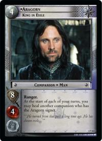lotr tcg fellowship of the ring foils aragorn king in exile foil
